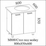 Стол рабочий 800 под мойку +3 350.00 Р.