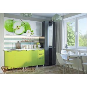 Кухонный гарнитур с фотопечатью (ЯБЛОКИ, АПЕЛЬСИНЫ, МАКИ)